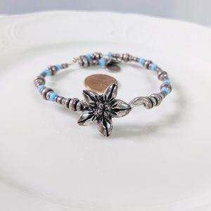 Alex & Ani  Sunrise Valley Flower Wrap Bracelet